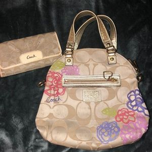 Coach Wallet & Hang Bag